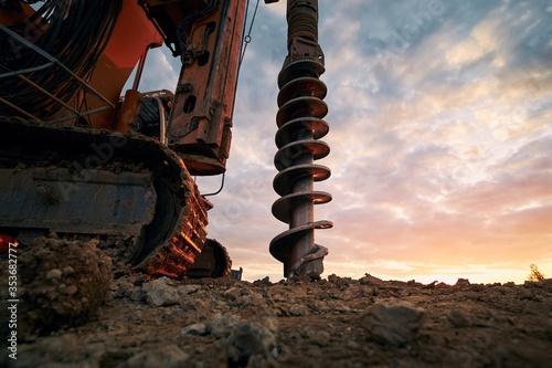 Building activity on contruction site Fototapeta