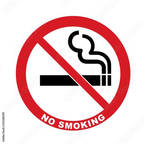 Vector icon no smoking Canvas Print
