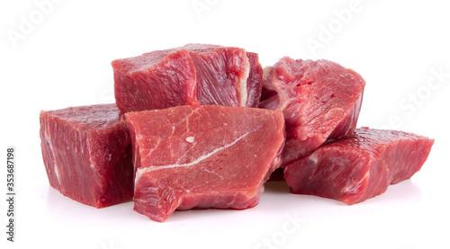 raw tasty beef isolated on white background Canvas-taulu