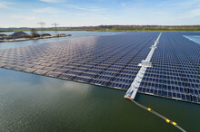Aerial View Of Solar Panels Se...