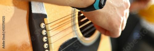 Fotografie, Obraz Man playing on guitar