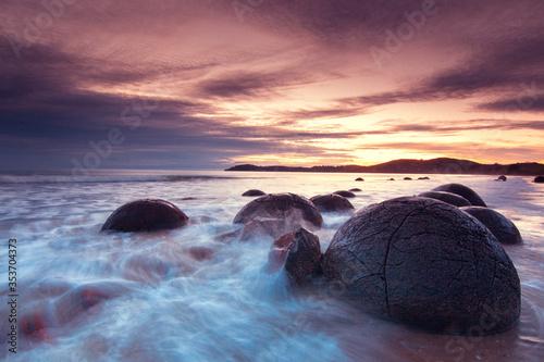 Fotografia Moeraki Boulders in Neuseeland