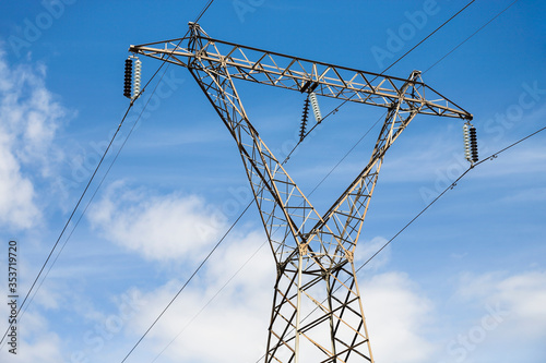 Obraz transmission tower or pylon - fototapety do salonu