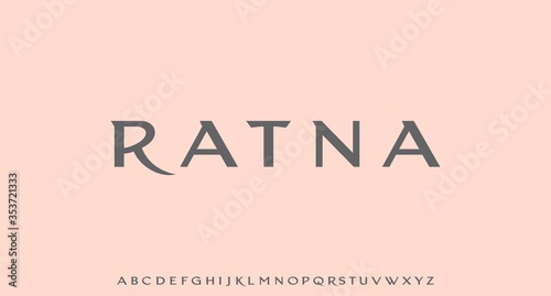 Fotomural RATNA, THE LUXURY GLAMOUR AND ELEGANT FONT