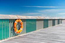 Bright Orange Lifebuoy Detail ...