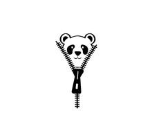 Panda Cartoon Character Behind...