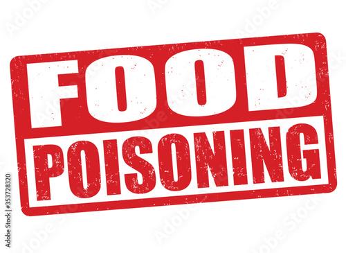 Cuadros en Lienzo Food poisoning  sign or stamp
