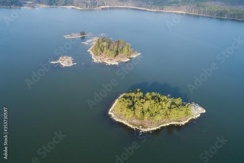 Fotografija Aerial view on sea coast line, birds eye view on baltic sea side