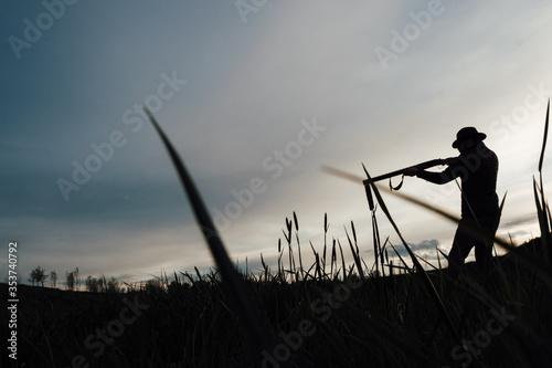 Fotografie, Tablou Vintage hunter walks