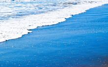 Bright Blue Ocean Blue Foam Tide Incoming Beach