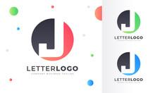 Colorful Gradient J Letter Log...