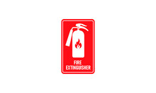 Red Fire Extinguisher. Firefig...