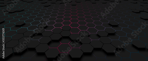 pattern hexagon background abstract Wallpaper Mural