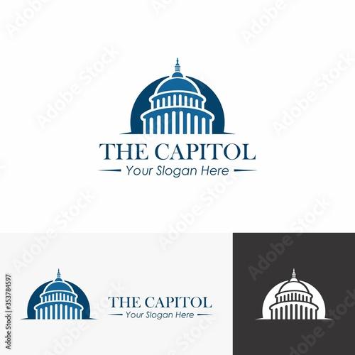 Capitol dome logo design inspiration Fototapet