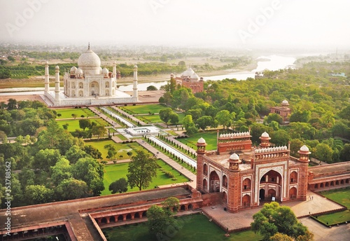 A World Heritage Site, the Taj Mahal, India's most beguiling monument, was compl Canvas Print