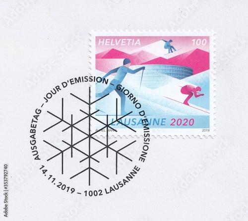 Fototapeta Winter youth Olympics in Lausanne 2020
