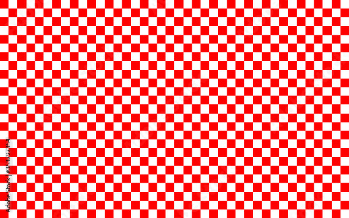 Fotografie, Obraz Red and white checkered pattern background