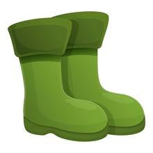 Fisherman Boots Icon. Cartoon ...