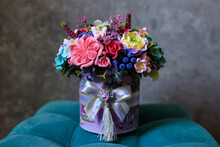 Ceramic Bouquet Of Roses In A ...