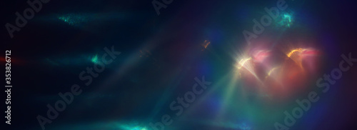 Obraz abstract image of lens flare. light leaks - fototapety do salonu