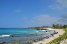 Idyllic Remote Tropical Beach At Big Island, Hwaii, USA