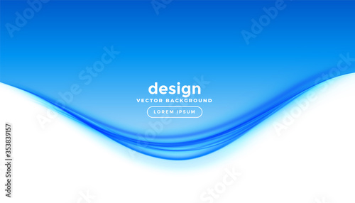 Obraz elegant business style blue wave presentation background - fototapety do salonu