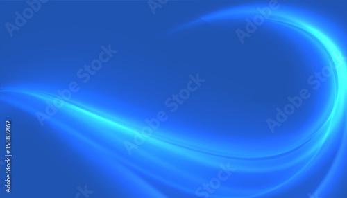 Photo blue shiny wave swirl background attractive design