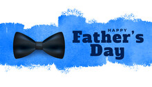 Happy Fathers Day Watercolor Style Background Design