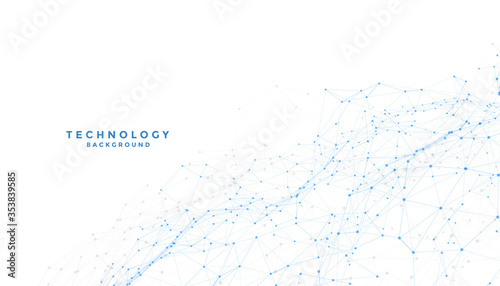 white background with low poly digital lines connection Wallpaper Mural