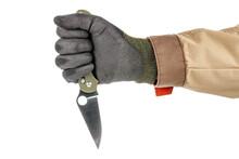 Open Pocket Folding Knife With...