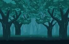 Mystical Gloomy Forest. Myster...