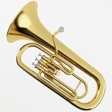 3d Rendering Of A Brass Euphon...