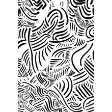 Abstract Black White Zebra Line Pattern. Zigzag Connected Lines Print Wallpaper Background