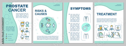 Fotomural Prostate cancer brochure template