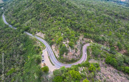 Fényképezés Aerial view Kaokard Viewpoint at Khon Kaen in Thailand.