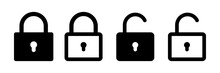 Lock Vector Icon. Security Symbol. Lock Web Button Design. Security System. Vector Isolated Lock Icon.