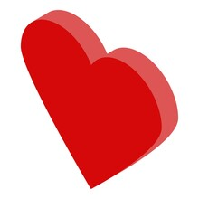 Bride Red Heart Icon. Isometri...