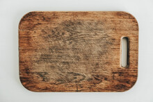 Old Wooden Cutting Board On A ...