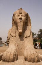 Massive Alabaster Sphinx In Th...