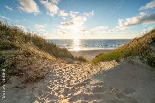 Fotografía Sunset at the dune beach