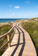 Wooden Boardwalk Along The Dun...