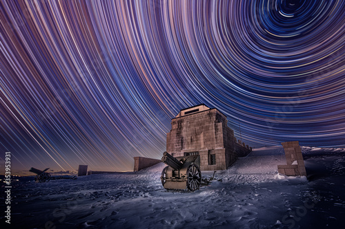 Startrail sul monte Grappa Wallpaper Mural