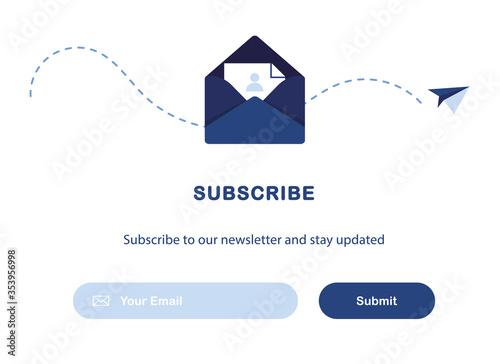 Obraz na plátne Vector banner illustration of email marketing