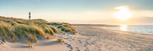 Dune Beach At Sunset On The Island Of Sylt, Schleswig-Holstein, Germany