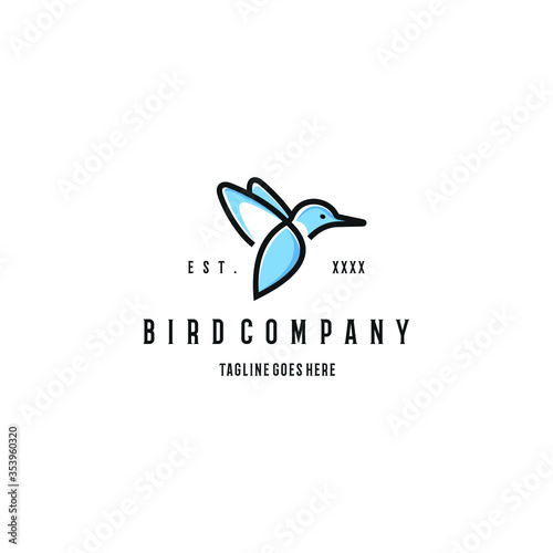 Leinwand Poster Kingfisher bird logo design