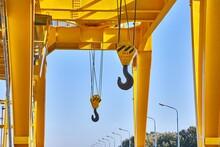 Hooks On A Crane Steel Industr...