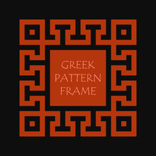 Vintage Greek Key Pattern Fram...