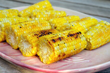 Grilled Ears Of Corn On The Cob