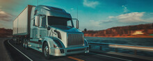 Truck On The Road. 3d Renderin...