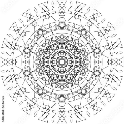 Photo Illustration of mandala pattern